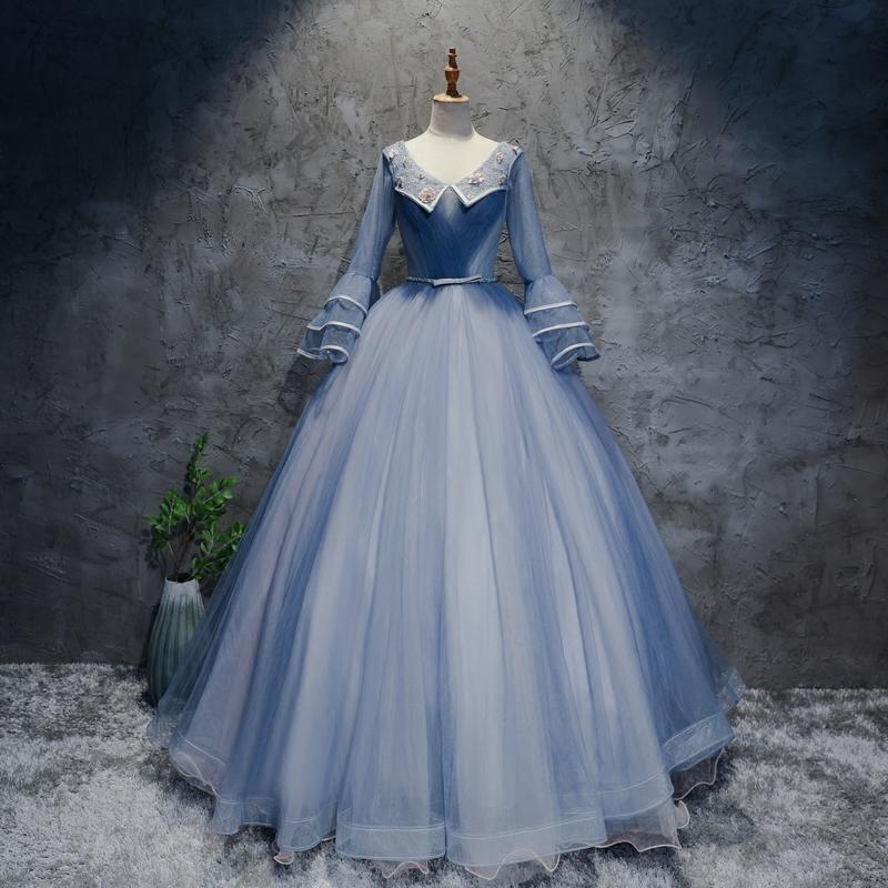 晚礼服学生v学生礼服舞台美声艺考年会长款蓬蓬裙礼服演出服女瘦