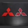 Mitsubishi Lancer Pajero V73 V3 Ling Yue Wing God car modification before and after car logo Mitsubishi logo