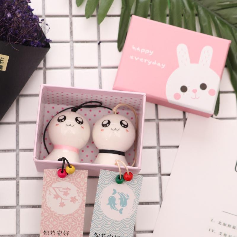 晴天娃娃陶瓷风铃挂饰日式创意女生生日礼物情侣卧室铃铛挂件客厅