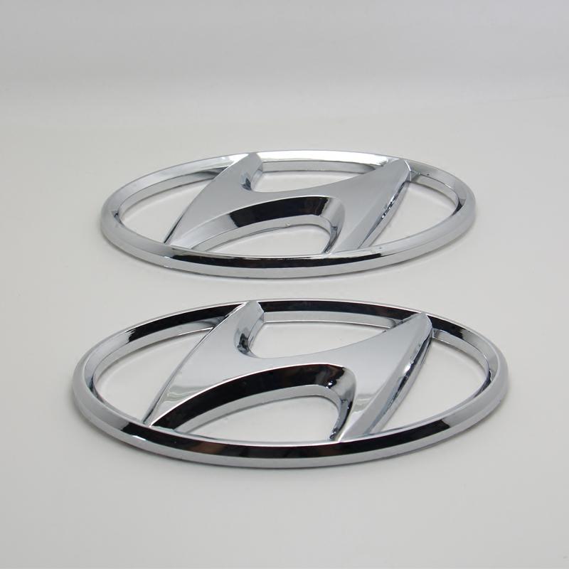 华泰原厂标圣达菲改装现代车标前后标志前杠中网标尾门标a原厂汽车