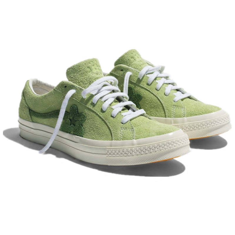 2bf746d08f7a ... Converse One Star x TTC Golf Flower Union Pink Green Wine Red Black  Whiteboard Shoes