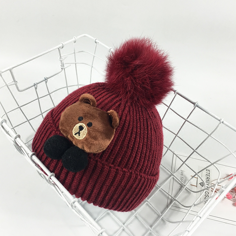 ce829840a Baby hat autumn and winter 0-3-6-12 months boys and girls wool hat ...