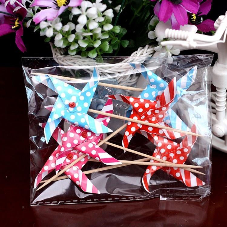 Праздничное украшение Мини день рождения серии мельница зубочистки декоративные кекс вставить карточку вставляют украшения флаг поворота ветряка