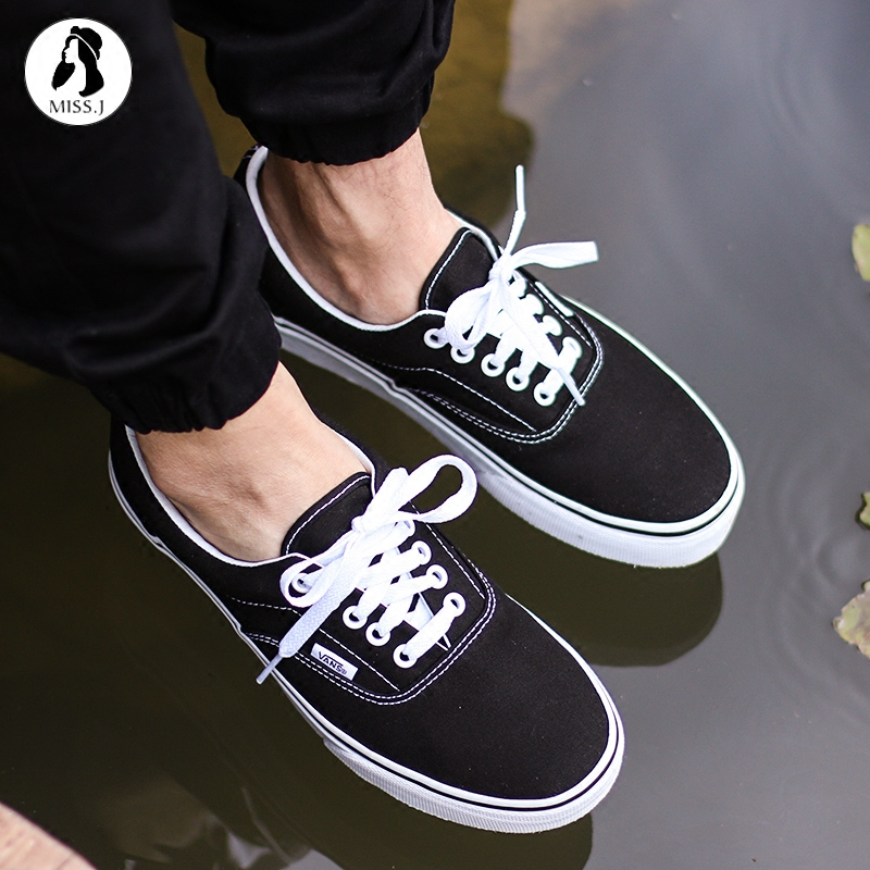 Miss King  VANS classic black and white ERA couple low canvas shoes men and b319afcfd