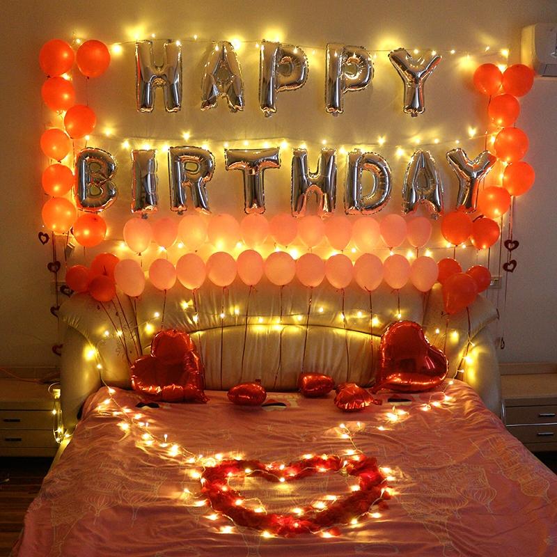 Husband Birthday Decoration Boyfriend Room Decoration
