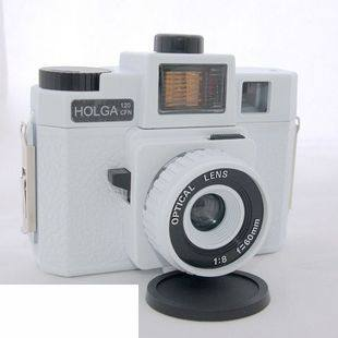 120 Vintage mechanical camera HOLGA 120GCFN glass lens four color flashes white Special Edition