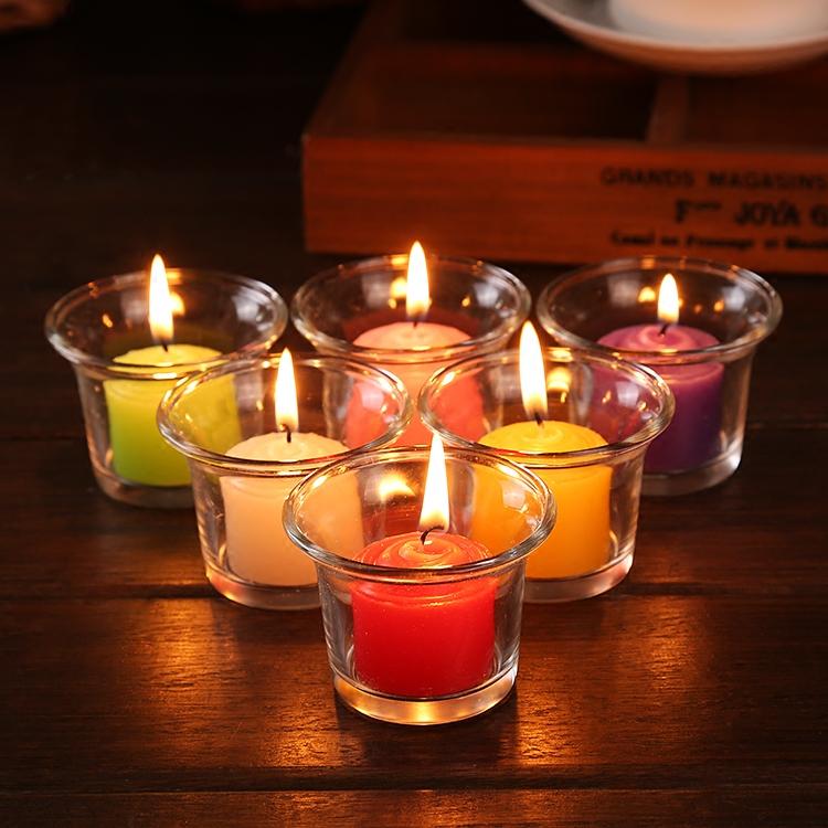 Бесплатная доставка творческий ароматерапия свеча стакан подсвечник предлагать отстаивать день рождения свеча свет ночь еда романтический воск качели инжир