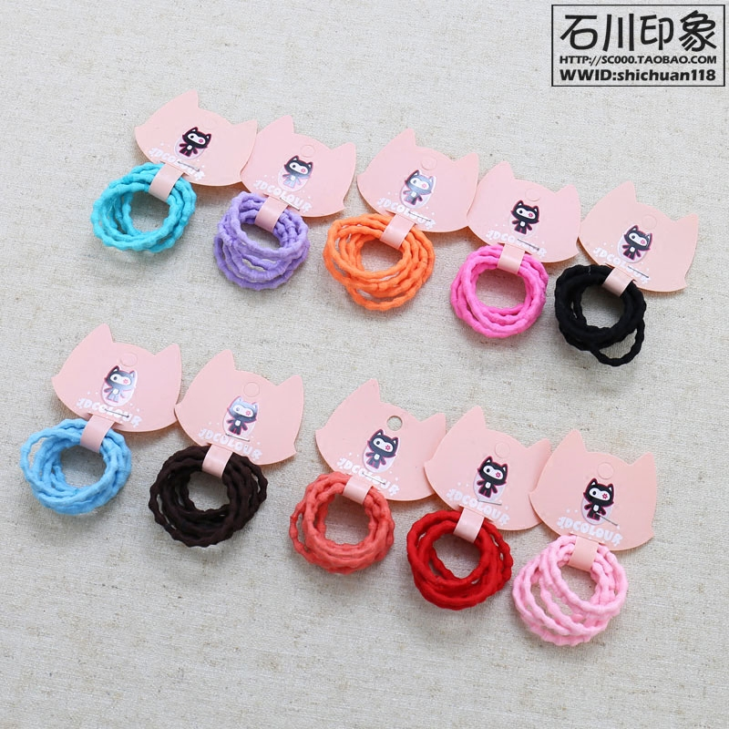 Children s basic rubber band bamboo hair ring women s head does not tie hair  rope female treasure 79c83775a50