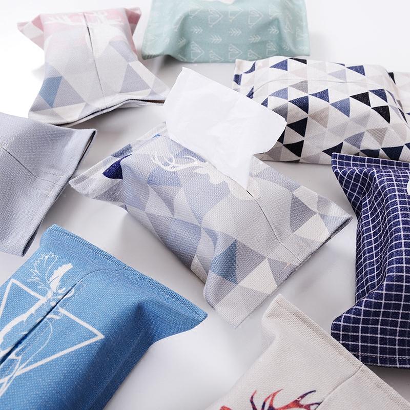 Нордический простой ткань ткань домой льняная ткань бумажные полотенца крышка насосные коробка ванная комната автомобиль насосные наборы полотенец мешок