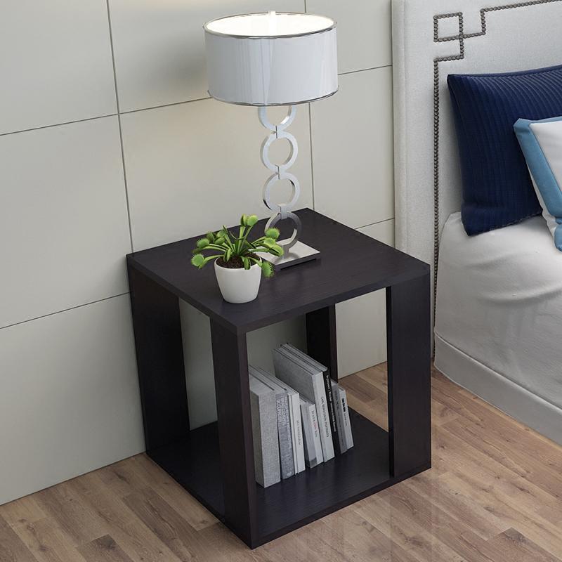 Простой современный маленький столик диван сторона угловой хранение прикроватный стол кофе стол нордический маленький квадрат стол спальня небольшой стол