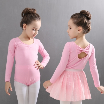Girls ballet performance costumes gymnastics dresses children ballet dance leotards wrap skirt