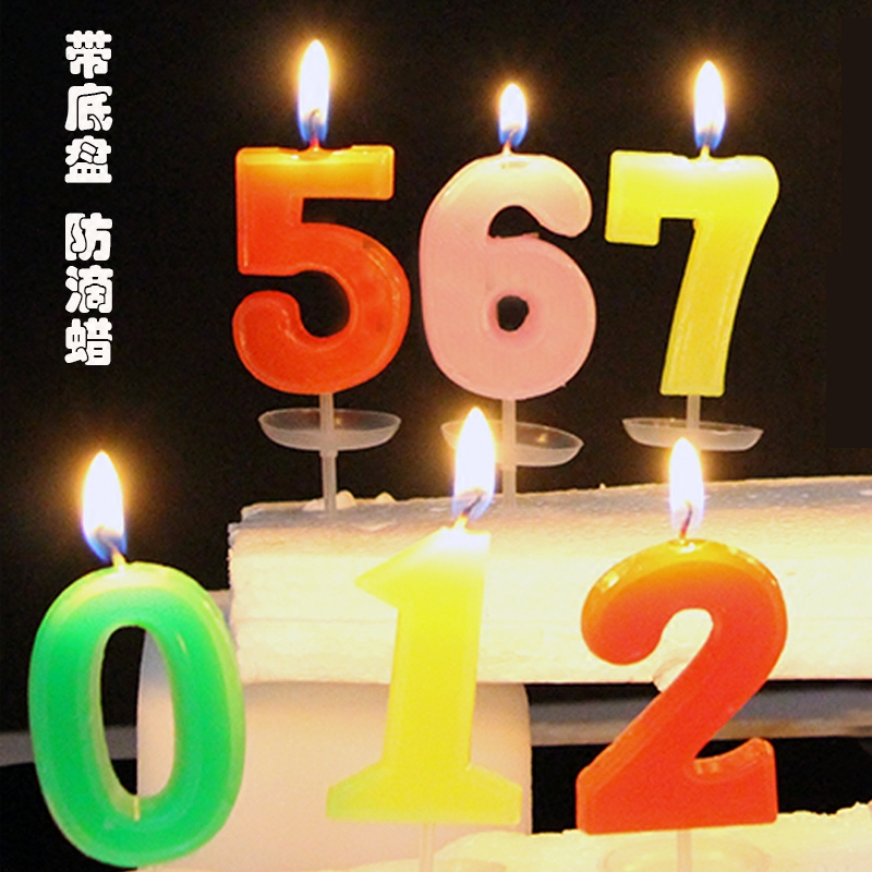 Birthday Candles Figures Creative Childrens Cake Decoration Party Supplies Smokeless Digital