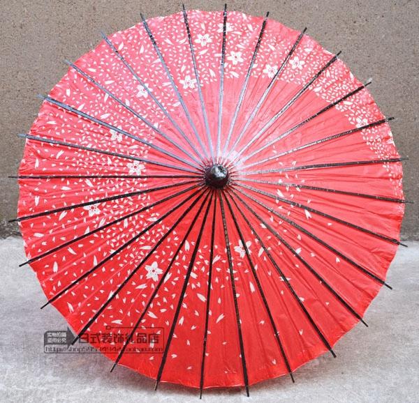 红色樱花工艺日本油纸伞动漫cos伞中秋国庆日式餐厅店铺装饰装修