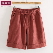 Five-cent trousers female summer cotton hemp middle trousers leisure trousers cotton hemp 5 cent shorts female summer