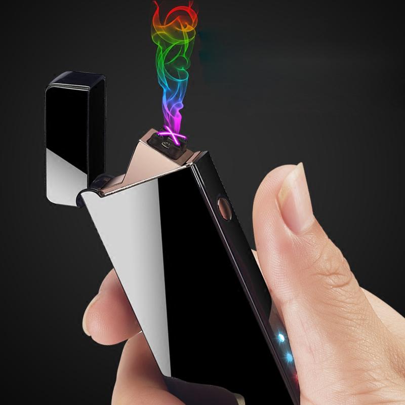 USB đôi arc sạc nhẹ hơn cá tính sáng tạo hiển thị điện tử nhẹ hơn chữ người đàn ông gửi bạn trai thủy triều