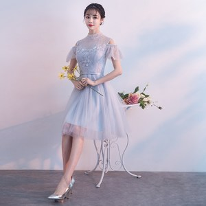 11e12270680a Bridesmaid dress 2019 new Korean version of the short section slim sisters  skirt party party small ...