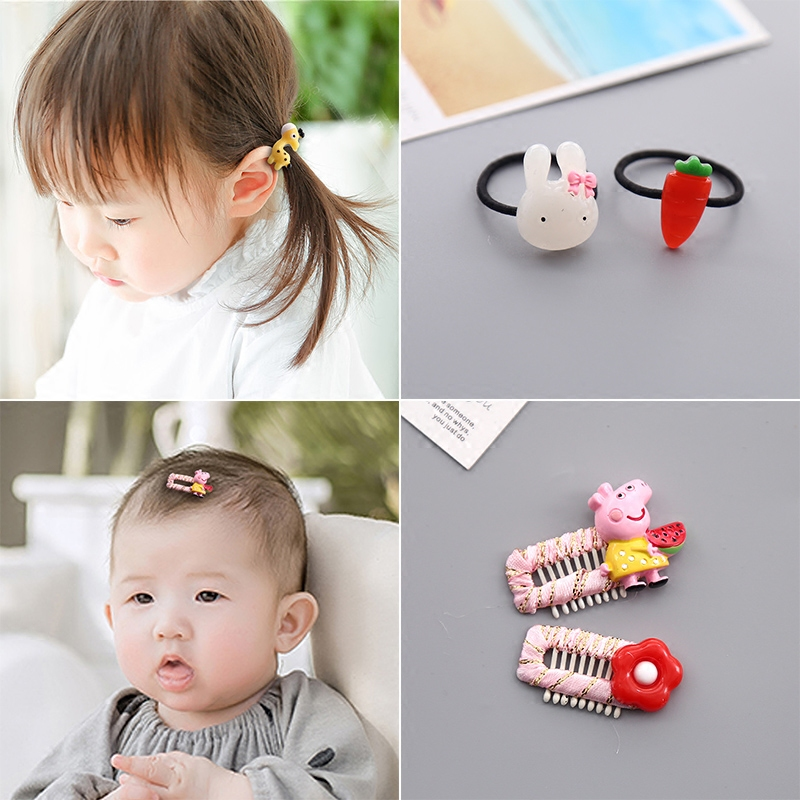 Children hair accessories hair tie hair head rope girls headdress rubber  band baby hair less available fbe1f82d8d6