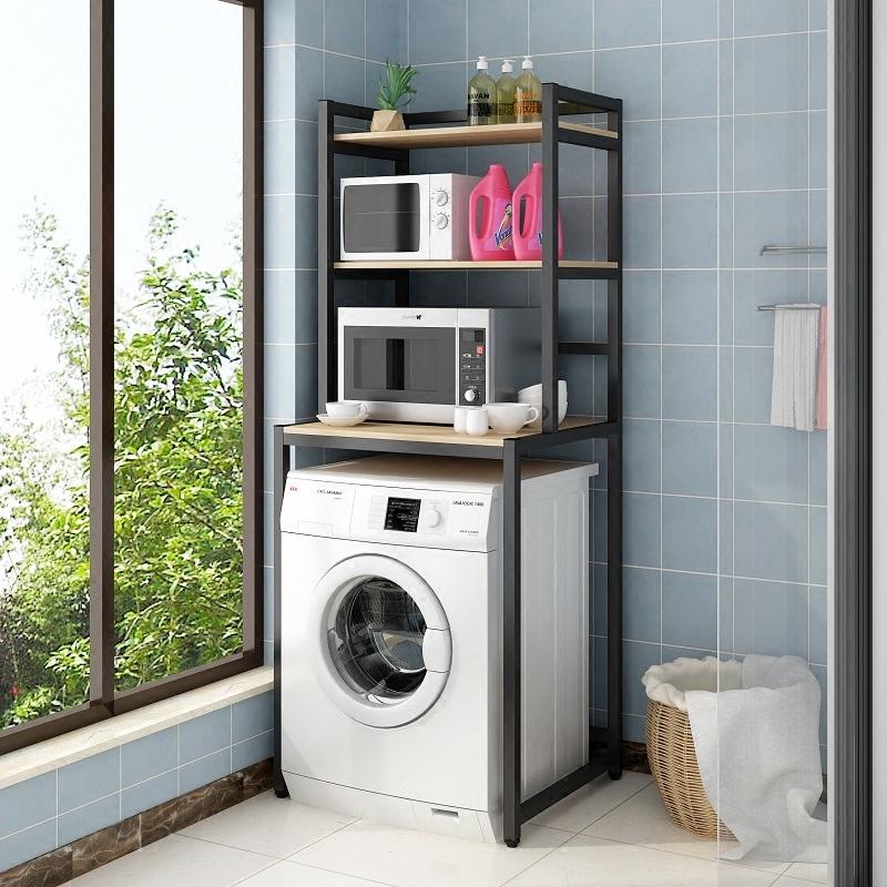 полочка для ванной Стиральная машина от пола до потолка стеллажи барабан стиральная машина полка туалет полка туалет полка ванной стеллаж для хранения
