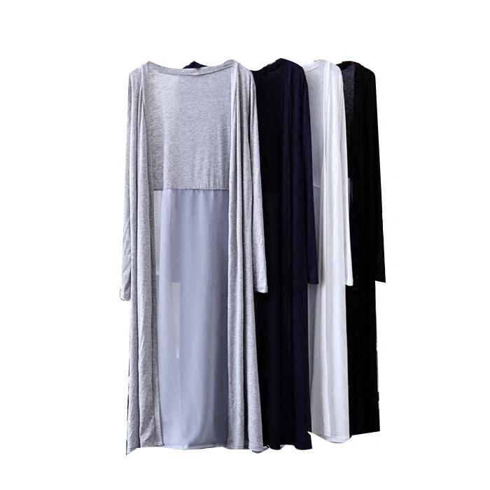 防晒衣女款黑色中长款薄款开衫外搭薄纱披风网纱夏季雪纺披肩外套