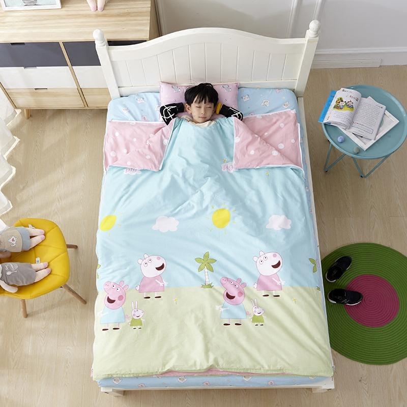 Хлопок детский сад спальный мешок четыре сезона находятся ребенок большой дети противо удар одеяло чистый хлопок весна ребенок спальный мешок крышка находятся