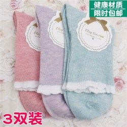 Spring and summer loose mouth socks for pregnant women, postpartum confinement socks, cotton socks, women's tube socks, spring and autumn wide-mouth socks for the elderly, solid color