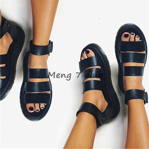 Korea Harajuku Roman sandals Women Summer 2018 New Wild Flat Korean Student Summer Shoes