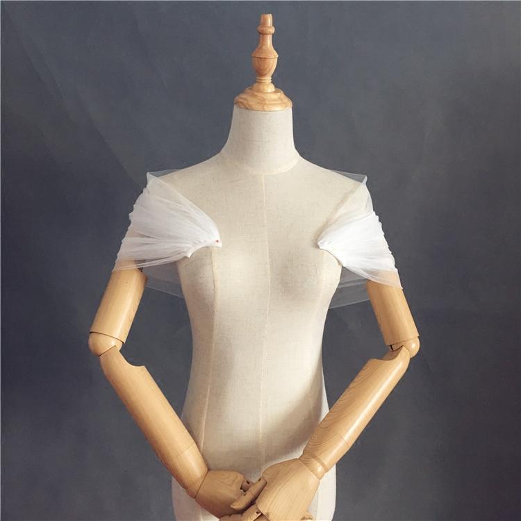 凯蒂婚饰配饰白色披肩包肩网纱软纱香槟婚纱红色新娘色多色定制