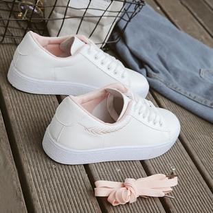 2018 გაზაფხული ახალი ლიტერატურული თეთრი ფეხსაცმელი მდედრობითი სტუდენტები ველური ძირითადი თეთრი ფეხსაცმელი კორეის ქალთა ფეხსაცმელი ბინა ქვედა 1992 ფეხსაცმელი