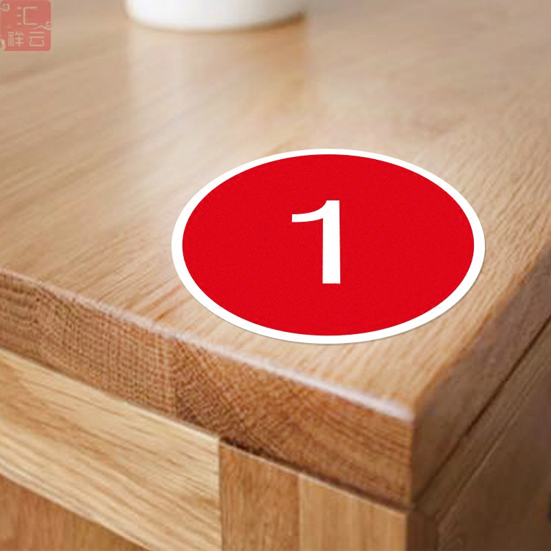 USD Custom Table Number Table Mesa Number Numbers Patch - Custom restaurant table numbers