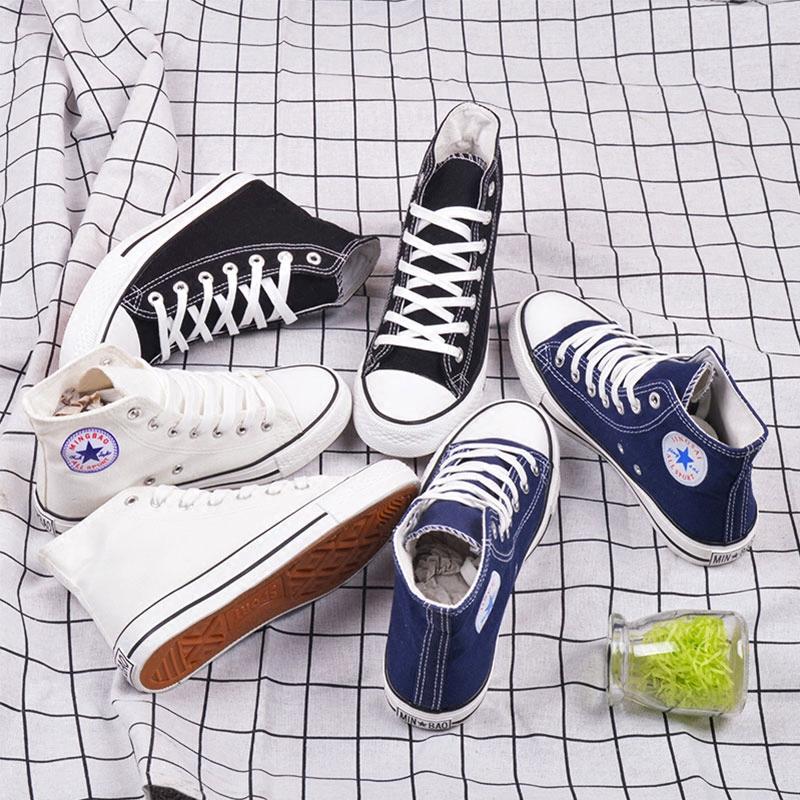 春季男士高帮帆布鞋韩版ulzzang潮鞋学生百搭休闲鞋球鞋街舞板鞋