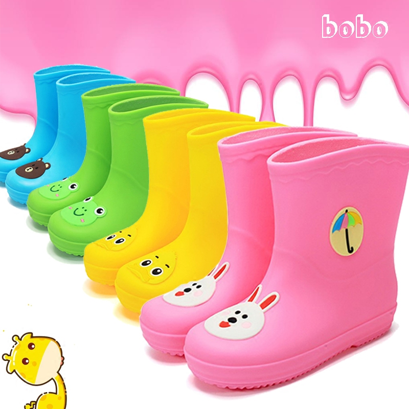 4ceed2924950 South Korea Children s small yellow duck rain boots cute cartoon boys and  girls baby tread water rain boots galoshes warm rubber boots