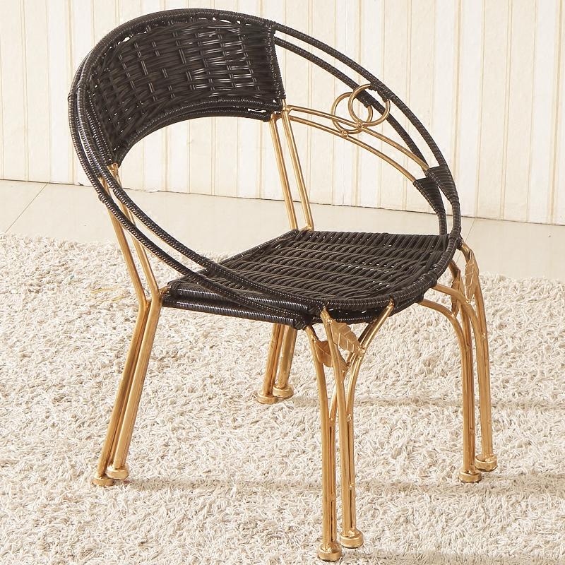 Плетеный стул случайный домой небольшой плетеный стул сын спинка стула для взрослых старики комнатный балкон на открытом воздухе столы и стулья ребенок стул