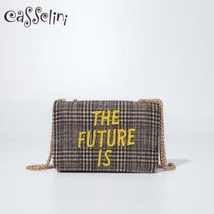 casselini日系小包包女新款链条包少女斜跨包时尚单肩手机包