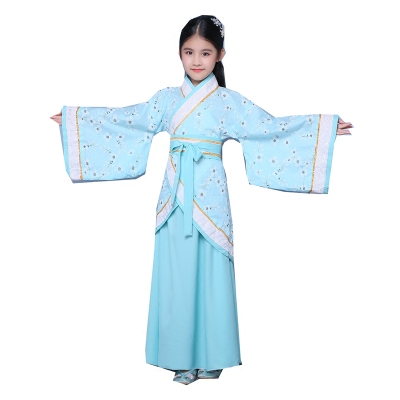 Children's costumes Hanfu dress Chinese learning Chinese style girls Tang suit fairy skirt guzheng performance out service