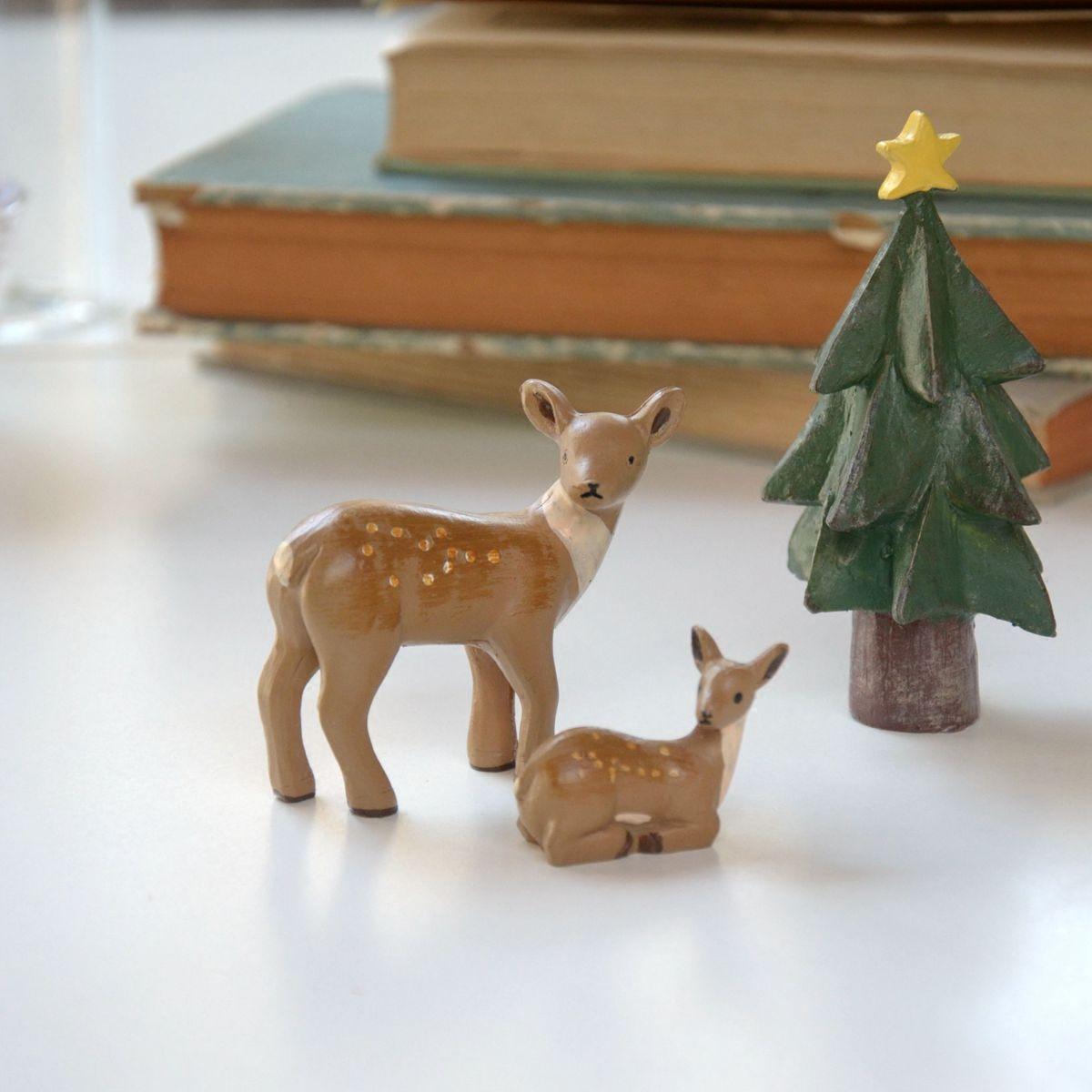 美式乡村小鹿摆件奶茶店铺儿童房客厅卧室创意小摆设家居软装饰品