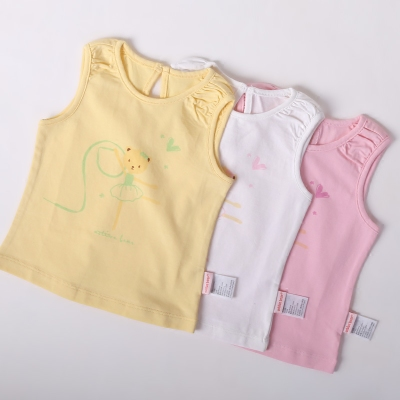 0-1-2-3 years old female baby summer girl summer short-sleeved T-shirt shirt baby children's cotton cartoon shirt