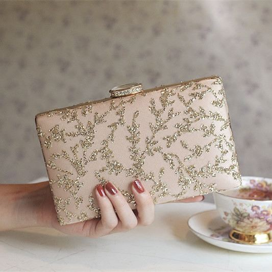 New fashion dinner bag chain female bag banquet bag clutch bag bride bag wedding bag rhinestone sequin handbag