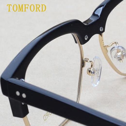 49901b6df4ca8 Tom Ford tomford myopia glasses frame half eyebrow full frame plate retro  TF5298 finished optical authentic