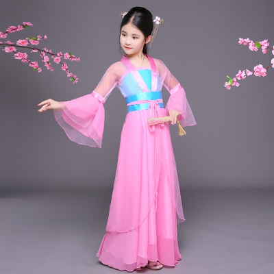 Children's costume Hanfu fairy guzheng costume COS Tang suit Children's Chinese costumes