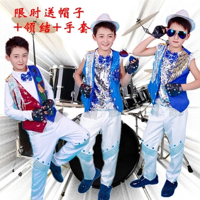 Girls Jazz Dance Costumes Children Model Walking Show Singers Perform Drums and Drums for Boys Hosting Liuzhou Brilliant Jazz Dance