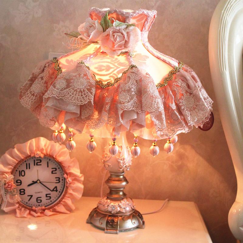 2016树脂白炽灯卧室床头灯婚庆简约现代创意结婚礼物喜庆装饰台灯