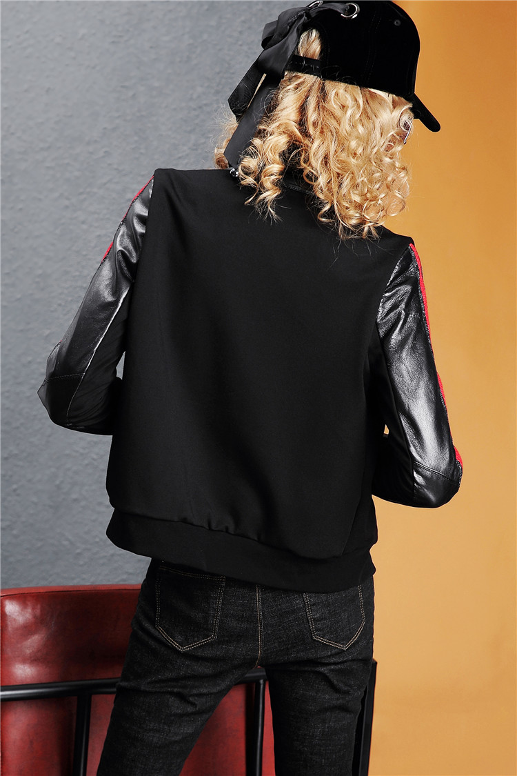 Europe Station 2020 autumn/winter new fashion leather long-sleeved slim jacket solid color jacket women's top tide I386 33 Online shopping Bangladesh