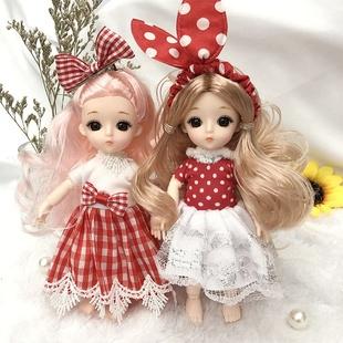 8分17厘米俏芭妃婚纱芭比娃娃套装衣服可换装13关节可爱公主玩具