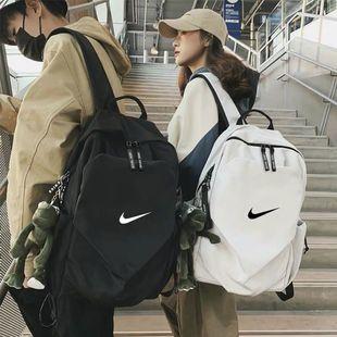韩版双肩包男时尚潮流男士电脑包旅行初中高中大学生书包休闲背包