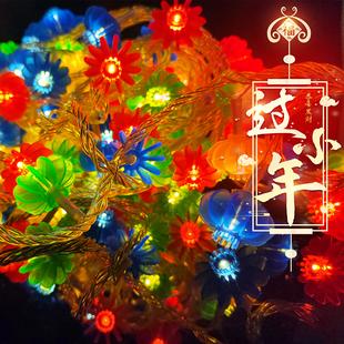 红灯笼串灯2021春节小彩灯led过年新年客厅装饰闪灯串中国结客厅