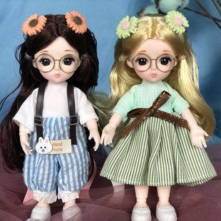 俏芭妃婚纱芭比娃娃17厘米小公主换套装衣服可爱儿童玩具女孩礼物