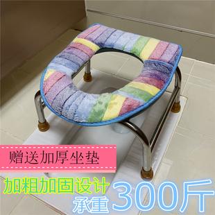 折叠加厚孕妇坐便器老人坐便椅防滑马桶病人蹲便大便厕所凳不锈钢