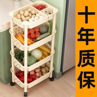 厨房置物架落地多层果蔬菜架子菜篮子小推车菜筐收纳用品家用大全