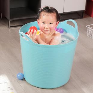 特大号儿童洗澡桶婴儿加高保温沐浴桶加厚泡澡桶浴盆塑料宝宝浴桶
