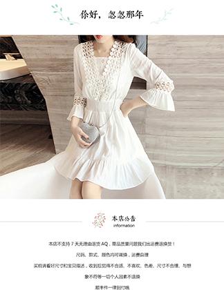 ST51 男女服饰 文艺小清新 连衣裙雪纺 韩版印花裙子 潮 荷叶边 喇叭袖